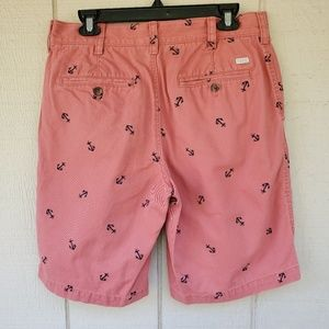 Izod Shorts - Izod Men's Flat front Salmon Anchor shorts 32